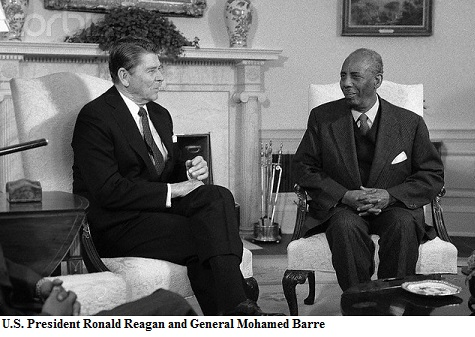 President Reagan Speaking With President Mohammed Said Barre