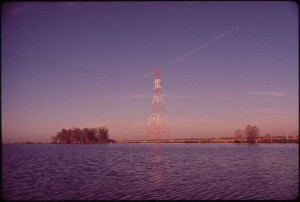 HIGH_VOLTAGE_UTILITY_LINE_CROSSES_THE_BAYOU_SEGNETTE_WATERWAY_APPROXIMATELY_10_MILES_SOUTH_OF_THE_WESTWEGO_PUBLIC..._-_NARA_-_546054